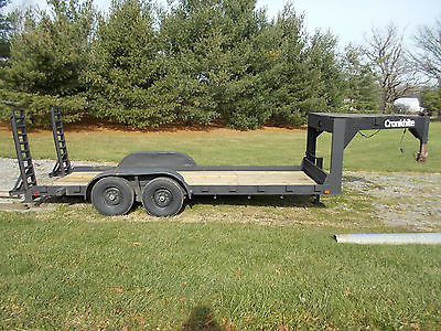 7 TON GOOSENECK EQUIPMENT PICKUP TRUCK CAR TRAILER NEW WINCH AXLES TIRES DECK
