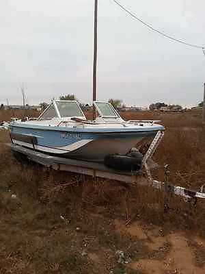 MAKE AN OFFER!!!! NEED 2 SELL ASAP Fishing boat white with blue trim. needs TLC