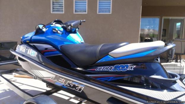 2012 Kawasaki 300 Ultra X Jet ski and trailer for sale.