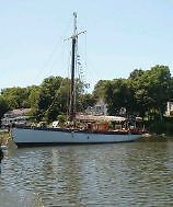 1925 54' English Wooden Sailing Yacht Boat