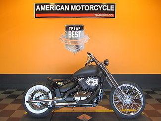 Suzuki : Other 2002 used black denim suzuki vl 800 customized bobber motorcycle