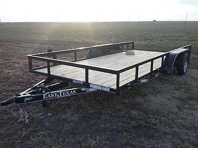 utility trailer 83'x16' Black