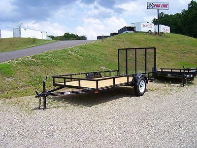 6 x 12 Open Utility Trailer Bumper Pull