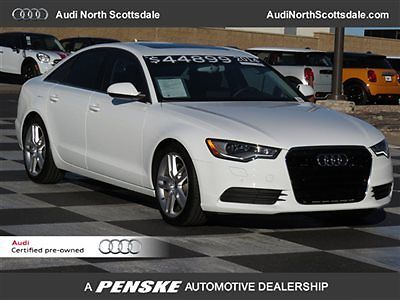 Audi : A6 -Certified Warranty-Navigation-Low Finance Rates low miles  heated seats  leather sun roof bluetooth satelitte car fax  quattro