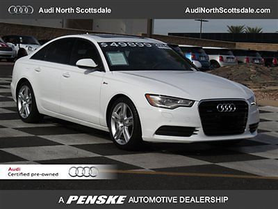 Audi : A6 -Certified Warranty-Navigation-Low Financing 5 k miles v 6 awd leather heated seats sun roof bluetooth backup camera satellite
