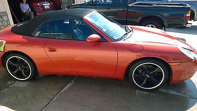 Porsche : 911 Carrera Convertible 2-Door Beatifully Kept  California Orange 911 Porsche Carrera