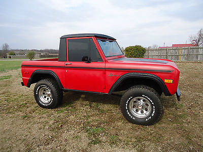Ford : Bronco Explorer 1974 ford bronco explorer pkg with metal half cab 302 auto ps daily driver look