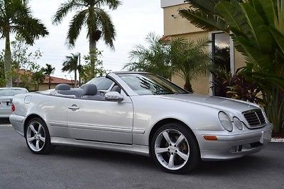 Mercedes-Benz : CLK-Class Convertible 2000 mercedes clk 320 convertible 77 k new tires brilliant silver ash cd changer