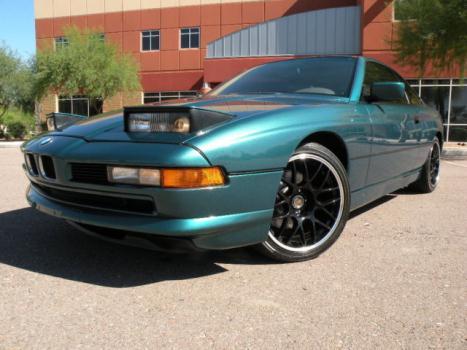 BMW : 8-Series 850i V12 1992 bmw 850 i rust free southern car gorgeous laguna green pearl extra clean