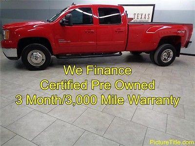 GMC : Sierra 3500 SLT 4WD Crew Cab 10 gmc 3500 slt dually 4 x 4 diesel crew leather warranty we finance texas