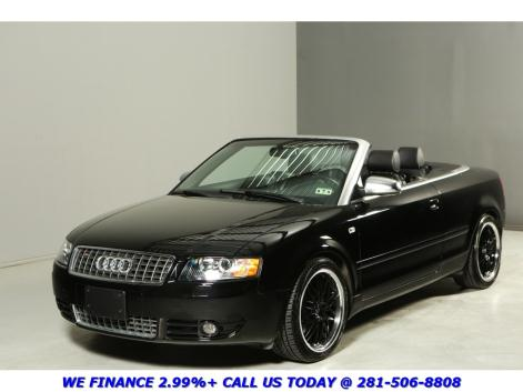 Audi : S4 QUATTRO V8 CONVERTIBLE CLEAN CARFAX 49K MILES LEATHER AWD V8 HEATED SEATS XENONS BOSE ALLOYS 4.2L WOOD
