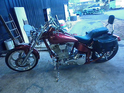 Big Dog : Mastiff 2001 bigdog mastiff red leather bags 21 front wheel 230 rear tire 107 s s motor