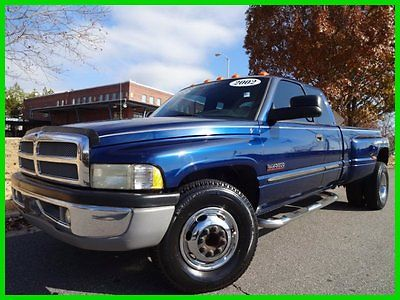 Dodge : Ram 3500 SLT DUALLY MANUAL CLEAN CARFAX WONT LAST!! 5.9 l 6 speed manual anti spin tow pkg cloth interior 3.55 axle 62 k original mi
