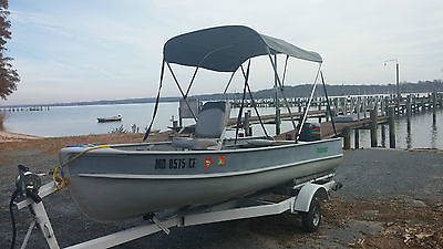 Freshwater  14' fishing boat with 4 stroke 9.9, low hours