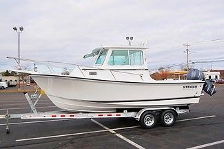 2014 STEIGER CRAFT 21 MIAMI PILOTHOUSE BOAT, YAMAHA 150HP 4STROKE, BRAND NEW