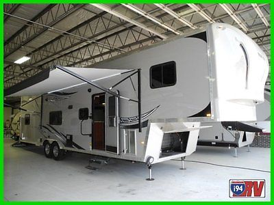 2014 Forest River Work n Play 38RLSW New Fifth Wheel Toy Hauler 12' Garage ramp