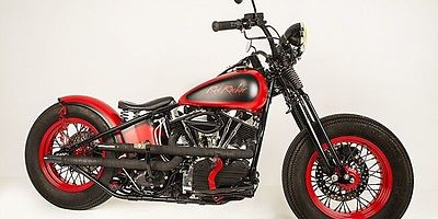 Custom Built Motorcycles : Bobber RED ROCKER SAMMY HAGAR 1963 PANHEAD NON-PROFIT CHARITY LITTLE KIDS ROCK BOBBER