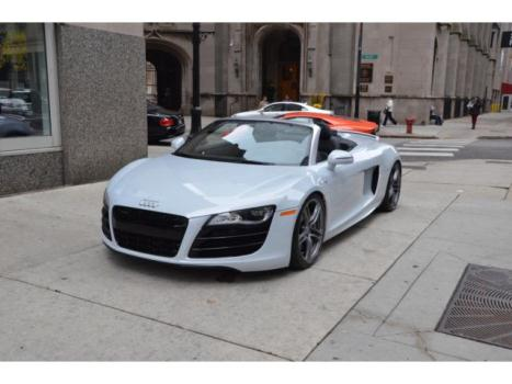 Audi : R8 R8 Spyder 2012 audi r 8 v 10 spyder rare suzuka gray paint r tronic low miles loaded