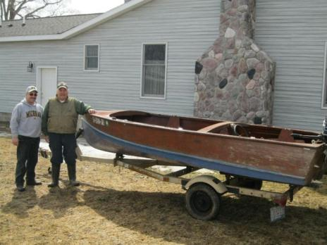 15' Marine Wooden Fishing Boat w/Trailer