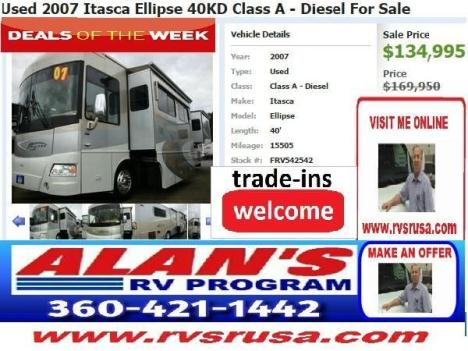 Used 2007 Itasca Ellipse 40KD Class A