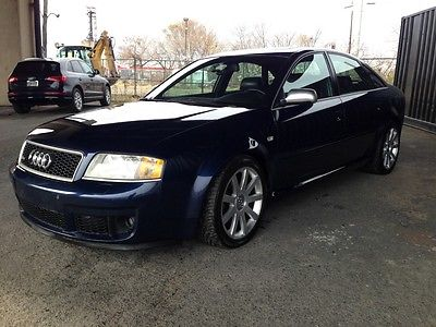 Audi : RS6 Base Sedan 4-Door Audi RS6 V8 twin turbo quattro AWD Mugello Blue in top shape, dealer serviced