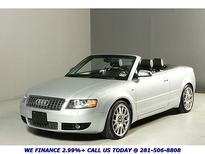 Audi : S4 QUATTRO V8 CONVERTIBLE CLEAN CARFAX 64K LOW MLS QUATTRO LEATHER XENONS BOSE AUTO ALLOYS WOOD 4.2L V8