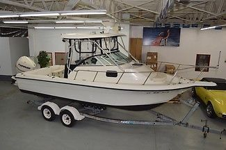 2000 HYDRA-SPORTS 230 WA, CABIN FISHING BOAT, 2007 250HP ETEC REPOWER, TRAILER