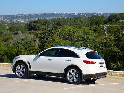 Infiniti : FX FX50 2010 infiniti fx 50 suv white black excellent condition 53 k miles warranty