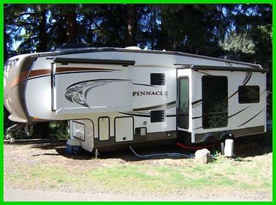 2013 Jayco Pinnacle Fifth Wheel 3 Slide Outs Awning Outside Grill Fireplace TV