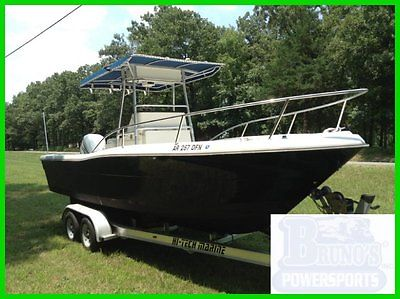 1989 PURSUIT 2550 FLUSH DECK CUDDY W/225 EVINRUDE AND TRAILER {NO RESERVE }