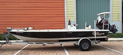 2007 CAROLINA SKIFF SEA CHASER 200 FLATS SERIES FISHING BOAT W/POLING PLATFORM