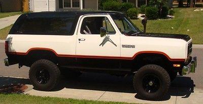 Dodge : Ramcharger 1983 dodge ramcharger 4 x 4