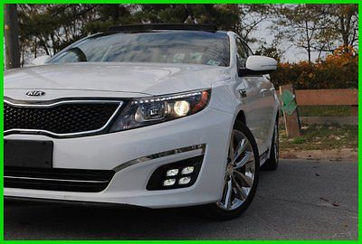 Kia : Optima SXL LIMITED TURBO NAVIGATION NAPPA LEATHER LOADED Repairable Rebuildable Salvage Wrecked Runs Drives Project Needs Fix Low Mile