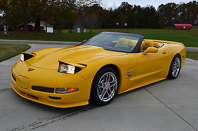 Chevrolet : Corvette Base Convertible 2-Door 2004 chevrolet corvette yellow convertible 17 k miles show car 2 owner garaged