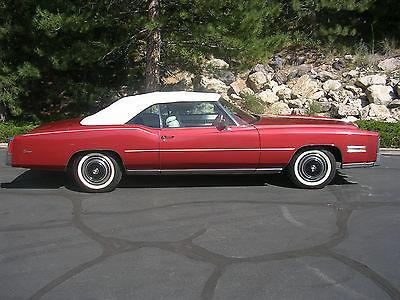 Cadillac : Eldorado 2 Door Convertible 1976 cadillac eldorado convertable