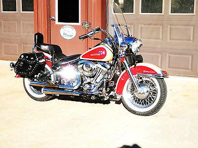 Harley-Davidson : Other 89 harley heritage softail custom classic hot rod street bike no chopper bobber