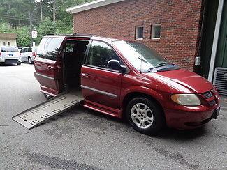 Dodge : Caravan handicap wheelchair accessible van 2001 red handicap wheelchair accessible van