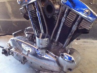 Harley-Davidson : Sportster 1965 harley ironhead sportster xlh xlch engine motor case frame chopper bobber