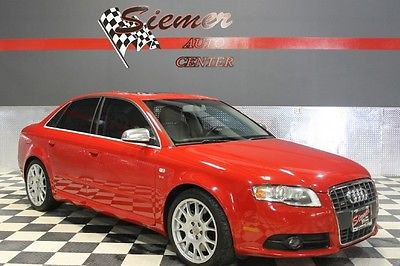 Audi : S4 awd red, s line, black leather, sunroof