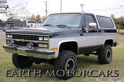 Chevrolet : Blazer 1989 chevrolet k 5 blazer 4 wd cowboy package lifted great suv