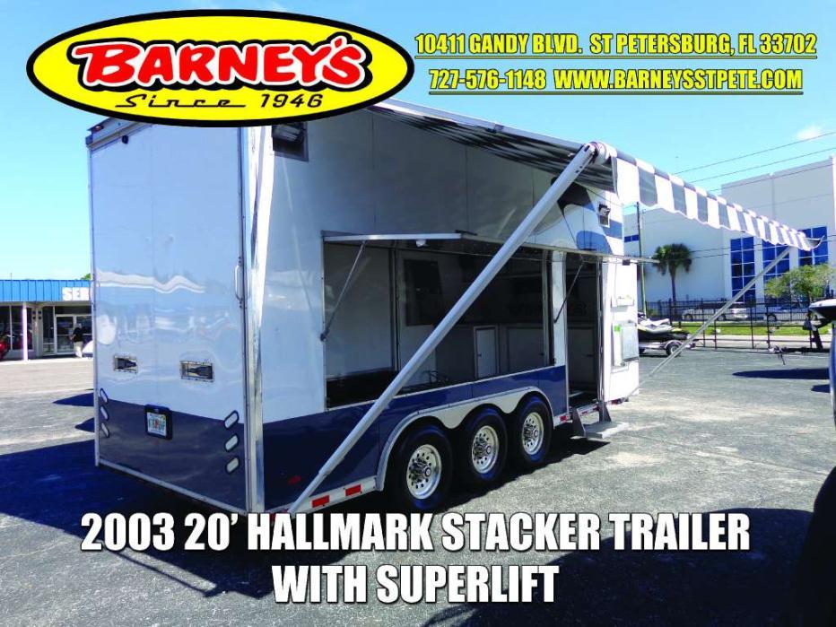 2003 Haulmark 20' STACKER TRAILER WITH LIFT