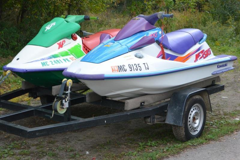 Two Jet Skis and Trailer
