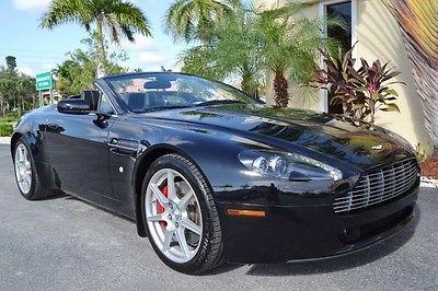 Aston Martin : Vantage Convertible 2008 aston martin vantage convertible one owner 6 speed manual navigation