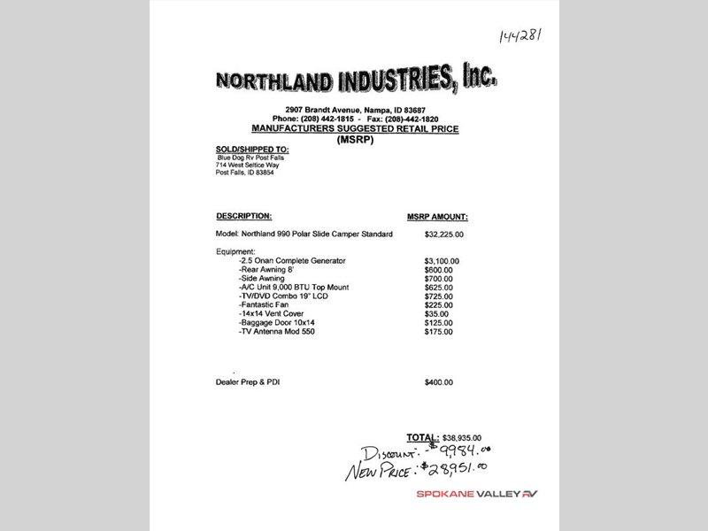 2015 Northland NORTHLAND 990 Polar