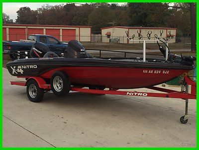 2009 NITRO X-4 WITH 50 HORSE MERCURY AND TRAILER LIKE NEW  (FREE SHIP)