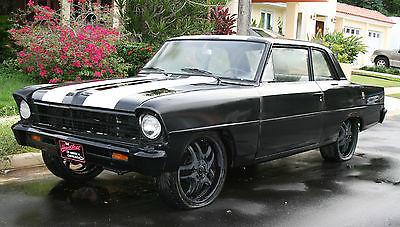Chevrolet : Nova Chevy 2 Nova 1967 chevy 2 nova matching number chevrolet black white matt original
