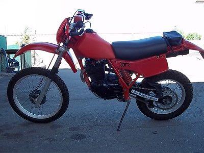Honda : XR 1981 honda xr 500 r restored street legal title