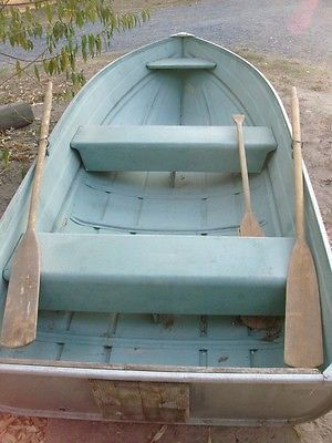Vintage solid made heavy duty aluminum boat - very good condition