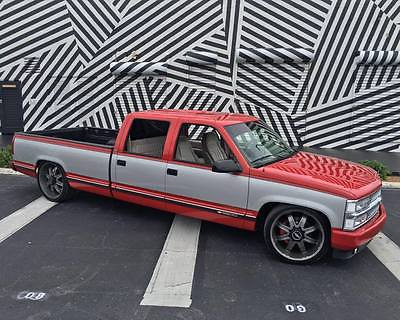 Chevrolet : C/K Pickup 3500 SILVERADO 1994 chevy crew cab 3500 lowered 22 s 24 s sema 454 big block super clean