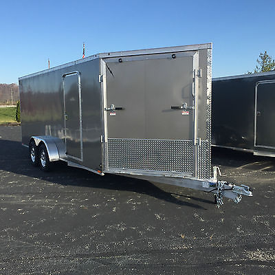 New 2016 All Aluminum Enclosed 7'X18' PLUS 5'V SNOWMOBILE/ATV/UTV